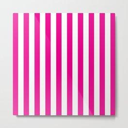 Vertical Pink Stripes Metal Print