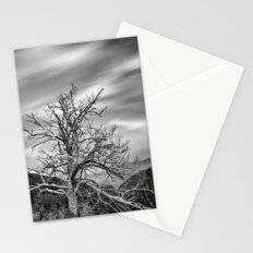 Old Mountain Tree under the stars Stationery Cards