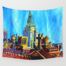 The City Never Dies Wall Tapestry
