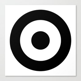 Black & White Mod Target Canvas Print