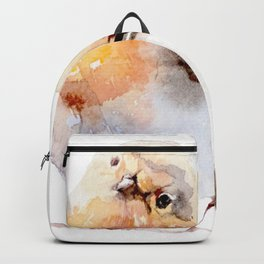Watercolor Bird Painting Backpack
