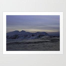 Ice wave Art Print