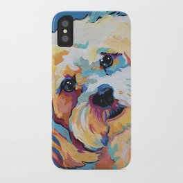 Maltipoo, Cavapoo, Cavachon, Cockerpoo, Mix Breed Custom Pop Art Pet Portrait iPhone Case