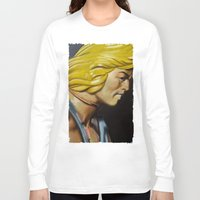 he man Long Sleeve T-shirts featuring HE-MAN by John McGlynn