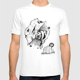 Fiesta At Crystal Towers B&W T-shirt