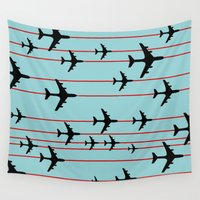 planes Wall Tapestries featuring Planes by Frances Roughton