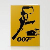 james bond Stationery Cards featuring 007 James Bond by Walter Eckland