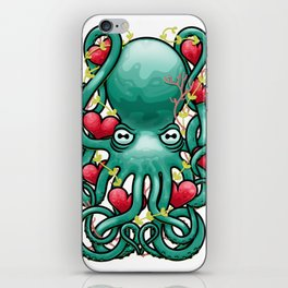 Octupus and Hearts iPhone Skin