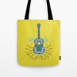 Fancy folk guitar Tote Bag