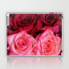 Glitter and Roses - Red and Pink Laptop & iPad Skin