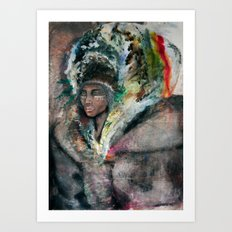 Warrior Portrait Art Print