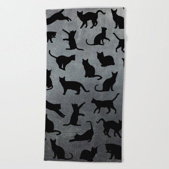 Cats pattern Beach Towel