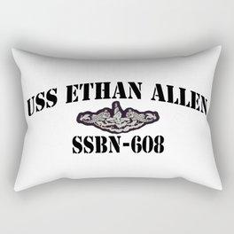 USS ETHAN ALLEN (SSBN-608) BLACK LETTERS Rectangular Pillow