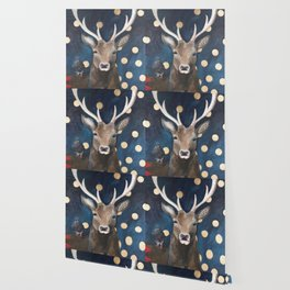 Stag with Tubbs and Goose Wallpaper