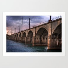 Color me bridge Art Print