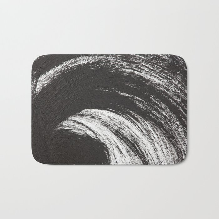 Black Brush Bath Mat