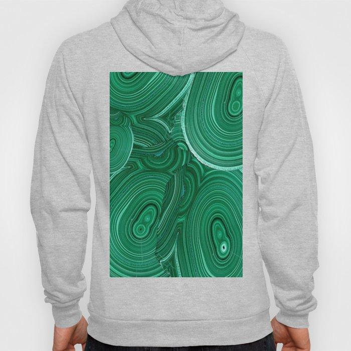 Green Malachite Nature Pattern Design Abstract Hoody