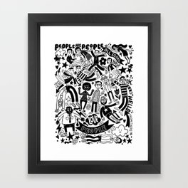 people are people Framed Art Print