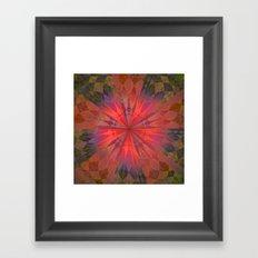 Light burst Framed Art Print