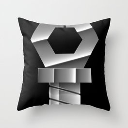 Snapping Claw - Sixth Generation Steel Throw Pillow