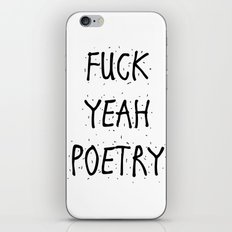 F*CK YEAH POETRY iPhone & iPod Skin