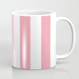 Sweet Sixteen pink - solid color - white vertical lines pattern Coffee Mug