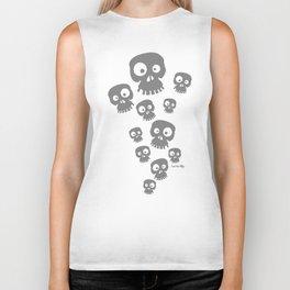 Skulls - grey Biker Tank
