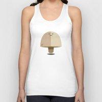 mushroom Tank Tops featuring Mushroom by Mister Linus