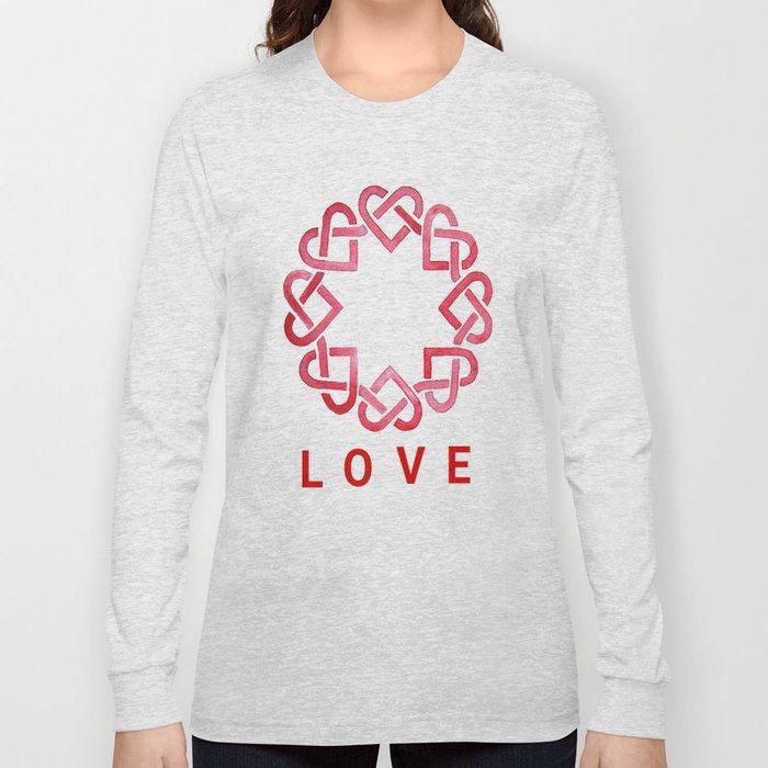 2a2cb32ca Celtic Hearts, Love - Watercolor Long Sleeve T-shirt by kayjolie ...