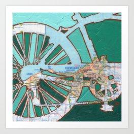 Bike Cleveland Ohio Art Print