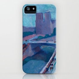 A GLIMPSE OF NOTRE DAME IN LATE AFTERNOON - HENRI MATISSE iPhone Case