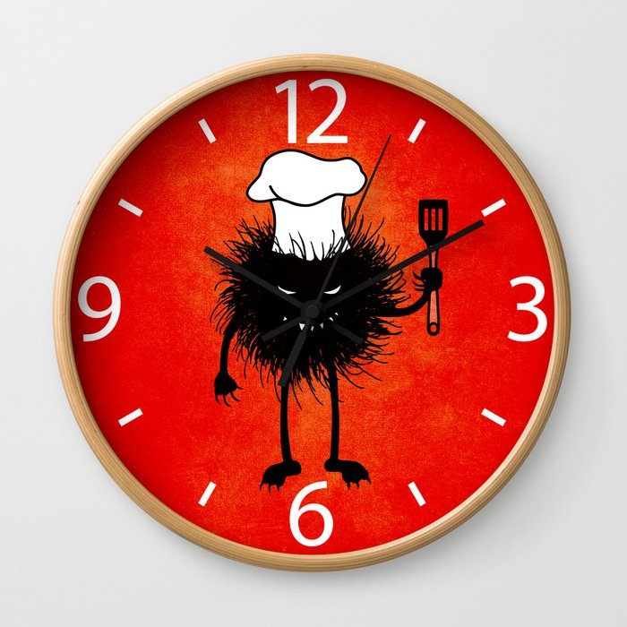 Evil Bug Chef Loves To Cook Wall Clock