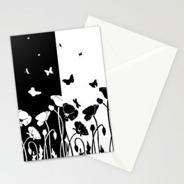 POPPIES AND BUTTERFLIES Stationery Cards