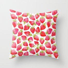 Strawberry Fields Throw Pillow