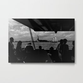 Ferry, Liberty & Silhouettes Metal Print
