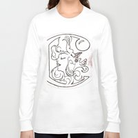 mucha Long Sleeve T-shirts featuring Alphonse Mucha inspired Art Nouveaux Cadmium Illustration by Cadmium Craig
