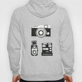 Three cameras. Hoody