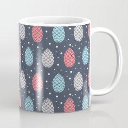 Pinecone Pattern Design / Winter Colors Coffee Mug