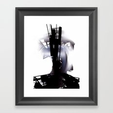 city dawn Framed Art Print
