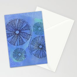 Blue Sea Urchin Stationery Cards