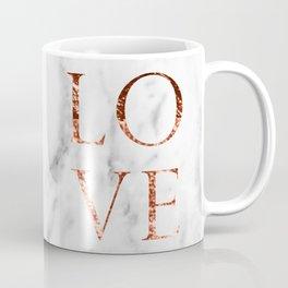 Rose gold marble LOVE Coffee Mug