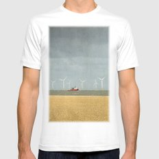 Scroby Sands Wind Farm, Great Yarmouth White Mens Fitted Tee MEDIUM