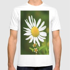Wild Daisy MEDIUM White Mens Fitted Tee