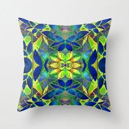 Floral Fractal Art G373 Throw Pillow