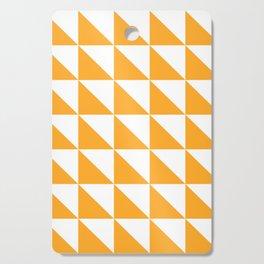 Geometric Pattern 01 Yellow Cutting Board