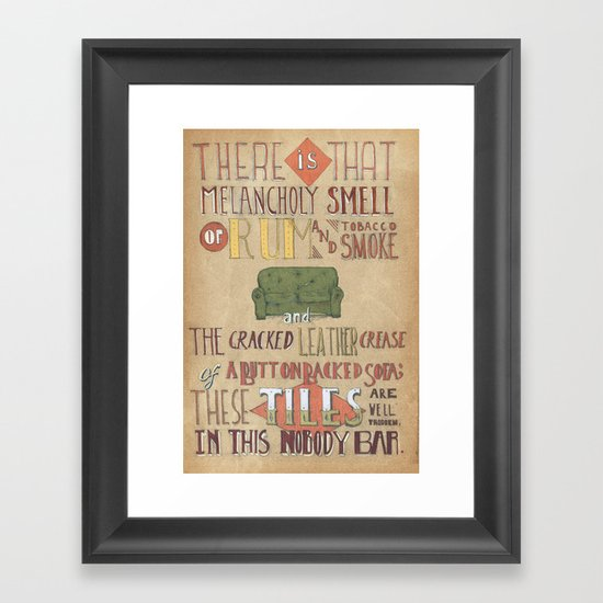 Button Backed and Lonely Framed Art Print