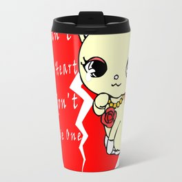Cat Princess Broken Heart Travel Mug