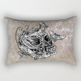 Human Skull Rectangular Pillow