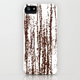 Birch Winter Sepia iPhone Case