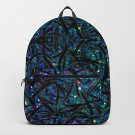 Blue abstract lights Backpack